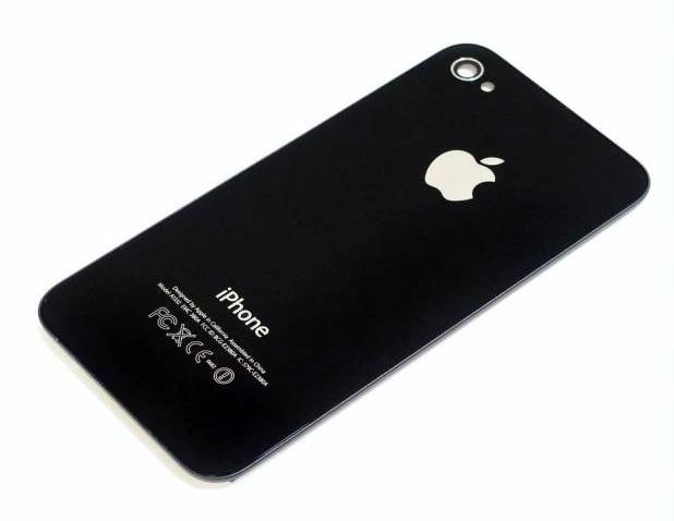 iphone 4 achterkant origineel zwart glas smartphone. Black Bedroom Furniture Sets. Home Design Ideas